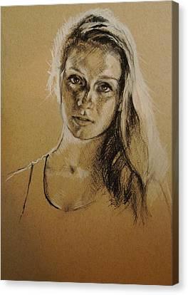 Portrait Canvas Print by Veronica Coulston