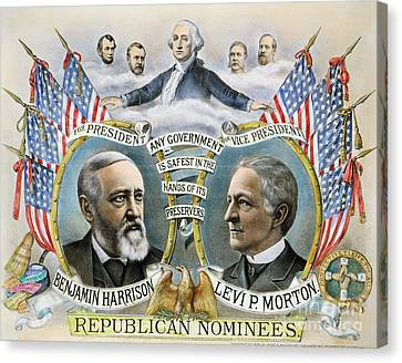 Presidential Campaign, 1888 Canvas Print by Granger