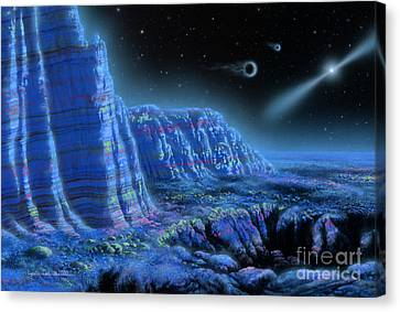 Pulsar Planets II Canvas Print by Lynette Cook