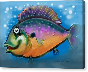 Rainbow Fish Canvas Print by Kevin Middleton