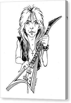 Randy Rhoads Caricature Canvas Print by Gary Bodnar