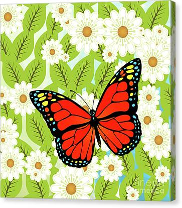 Red Butterfly Canvas Print by Gaspar Avila