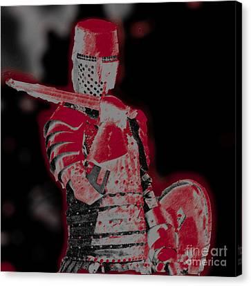 Red Knight Canvas Print by Lillian Michi Adams