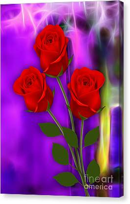 Red Roses Collection Canvas Print by Marvin Blaine