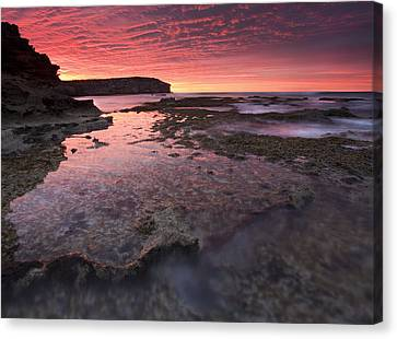 Red Sky At Morning Canvas Print by Mike  Dawson