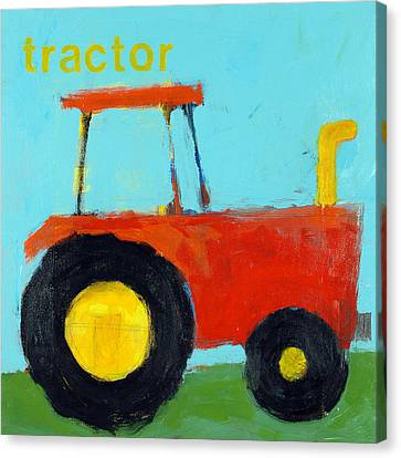 Red Tractor Canvas Print by Laurie Breen