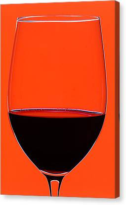 Red Wine Glass Canvas Print by Frank Tschakert
