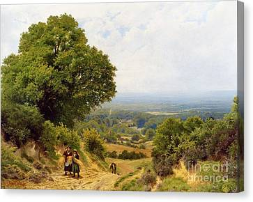 Returning From The Harvest Canvas Print by MotionAge Designs