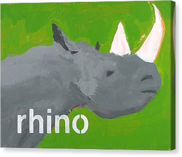 Rhinoceros Canvas Print by Laurie Breen