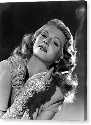 Rita Hayworth, Columbia Pictures, 1940s Canvas Print by Everett
