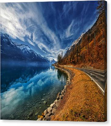 Road To No Regret Canvas Print by Philippe Sainte-Laudy