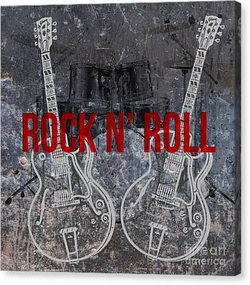 Rock N Roll Canvas Print by Edward Fielding