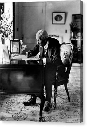 Rockefeller, John D. Sr Canvas Print by Everett