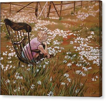 Rocking Chair No.1 Canvas Print by Christine Marek-Matejka
