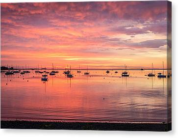 Rockland Harbor Sunrise Canvas Print by Tim Sullivan
