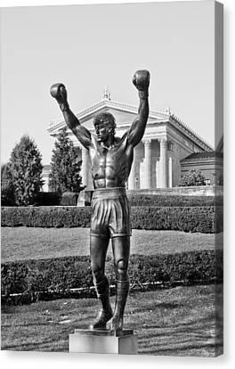 Rocky Statue - Philadelphia Canvas Print by Brendan Reals