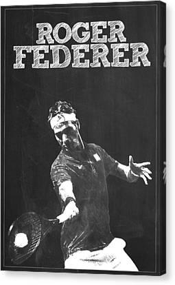 Roger Federer Canvas Print by Semih Yurdabak