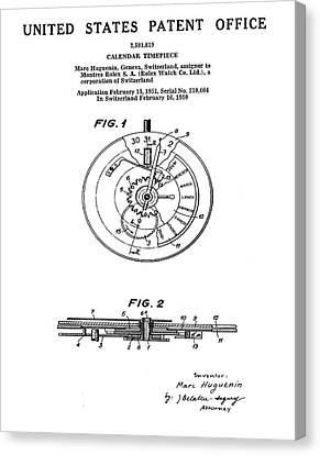 Rolex Watch Patent 1999 Canvas Print by Bill Cannon