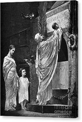 Rome: Christian Widow Canvas Print by Granger