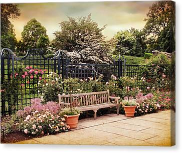 Rose Garden Trellis Canvas Print by Jessica Jenney