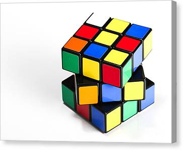 Rubiks Cube Canvas Print by Photo Researchers