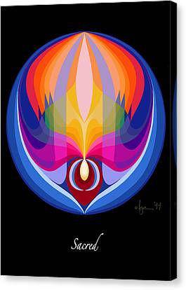 Sacred Canvas Print by Angela Treat Lyon