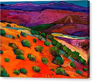 Sage Slopes Canvas Print by Johnathan Harris