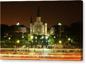 Saint Louis Cathedral In New Orleans Canvas Print by Jetson Nguyen
