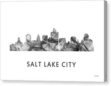 Salt Lake City Utah Skyline Canvas Print by Marlene Watson