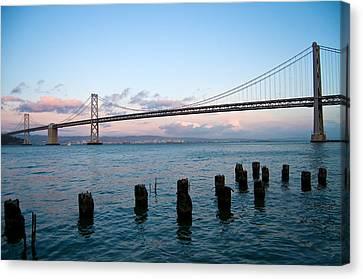 San Francisco Bay Bridge Canvas Print by Mandy Wiltse