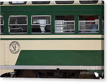 San Francisco Vintage Streetcar On Market Street . 5d17974 Canvas Print by Wingsdomain Art and Photography