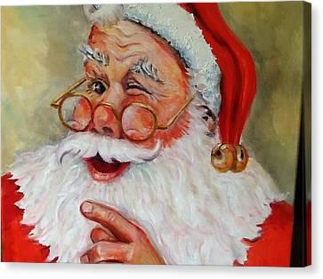 Santa Winking II Canvas Print by Sheila Kinsey