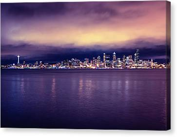 Seattle From Alki Canvas Print by Tanya Harrison