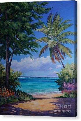 Secret Beach Canvas Print by John Clark