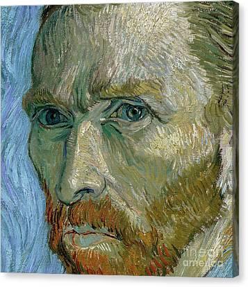 Self-portrait Canvas Print by Vincent Van Gogh