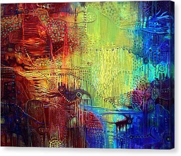 Shadows Of The Dream I Canvas Print by Lolita Bronzini