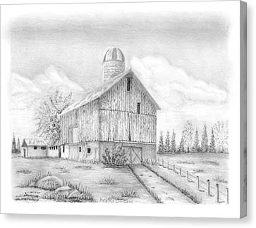 Sheshequin Township Farm Canvas Print by Kerry Facey