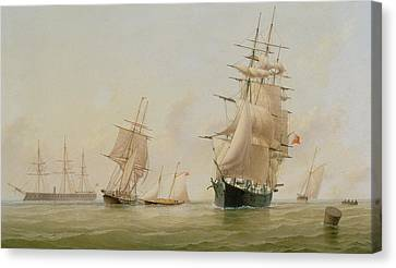 Ship Painting Canvas Print by WF Settle