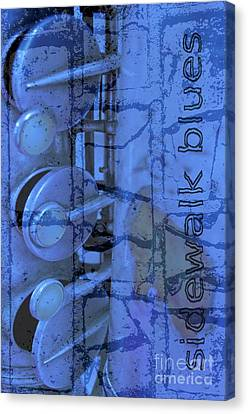 Sidewalk Blues Canvas Print by Gwyn Newcombe