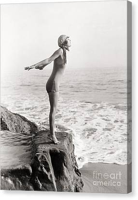 Silent Still: Bather Canvas Print by Granger