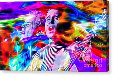Simon And Garfunkel Canvas Print by Marvin Blaine