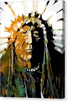 Sitting Bear Canvas Print by Paul Sachtleben