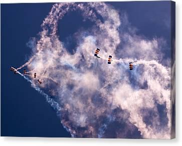 Sky Surfing Canvas Print by Angel  Tarantella