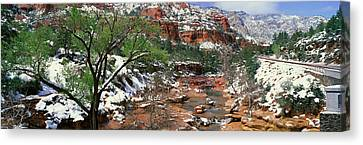 Slide Rock Creek In Wintertime, Sedona Canvas Print by Panoramic Images