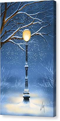 Snow Canvas Print by Veronica Minozzi