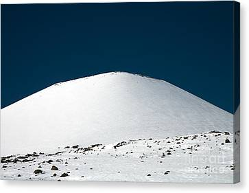 Snowy Mauna Kea Canvas Print by Peter French - Printscapes