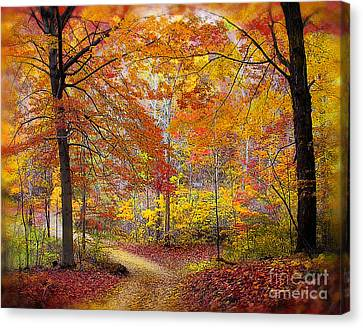 Soft Autumn Rain Canvas Print by Gina Signore