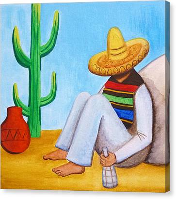 Sombrero Canvas Print by Lucy Deane