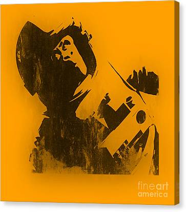 Space Ape Canvas Print by Pixel Chimp