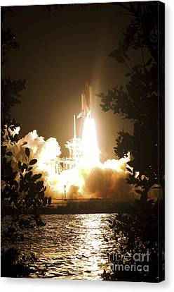 Space Shuttle Endeavour Liftoff Canvas Print by Stocktrek Images